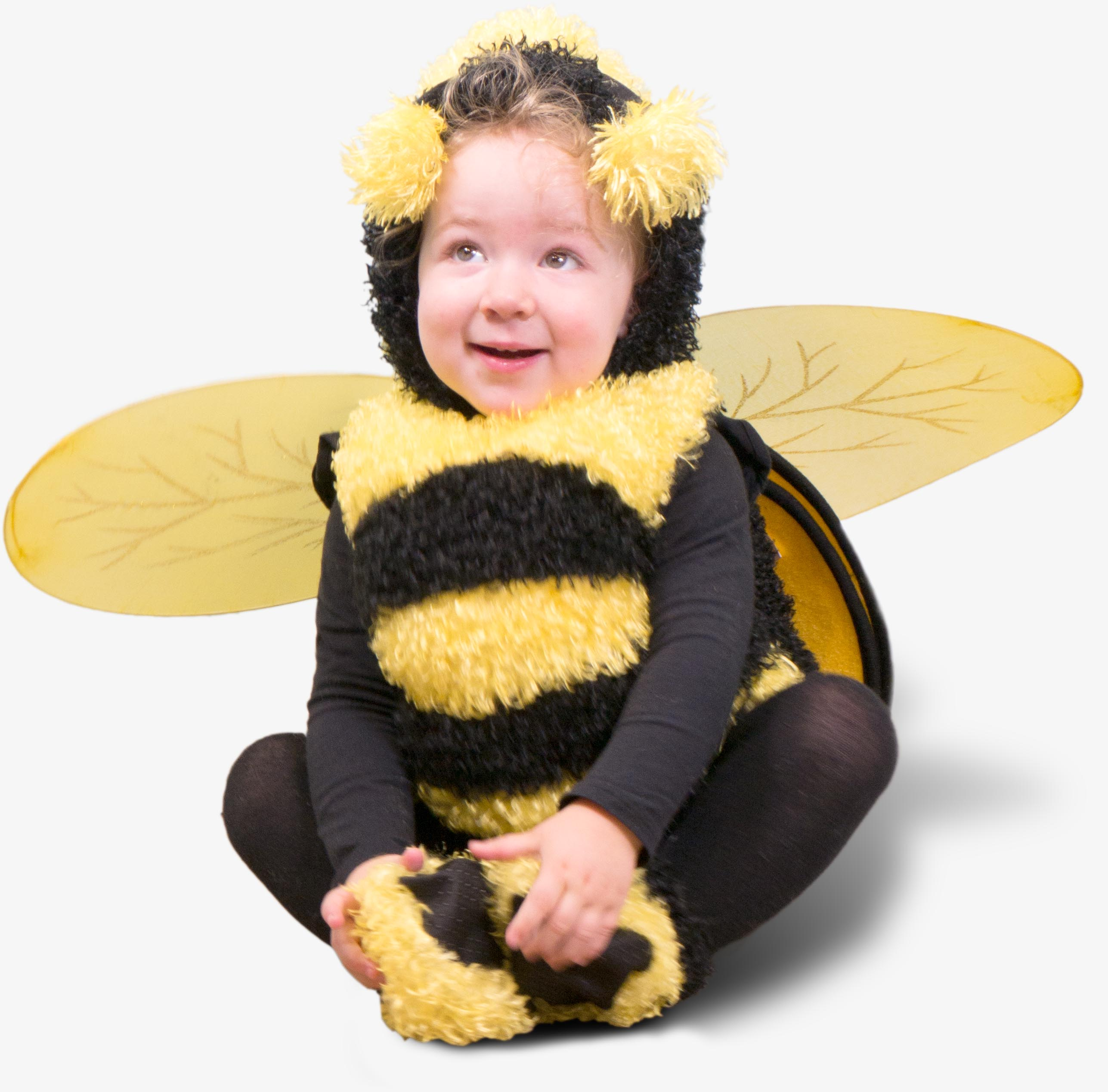 child in bee costume